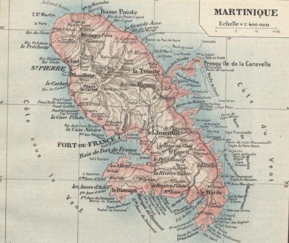 Carte des Antilles