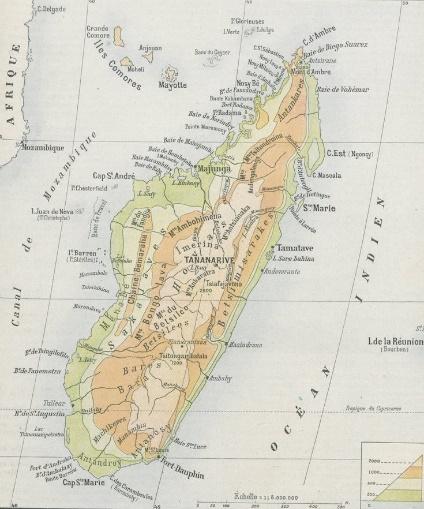 Carte de Madagascar