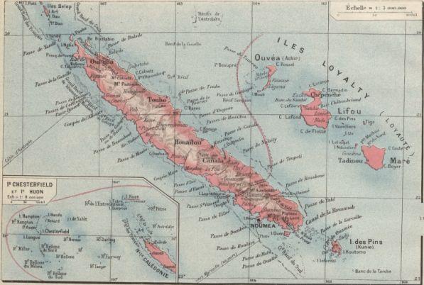 Carte de Nouvelle-Calédonie